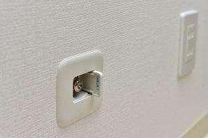 全部屋にガス栓がついています。便利なガス暖房を使用できます。